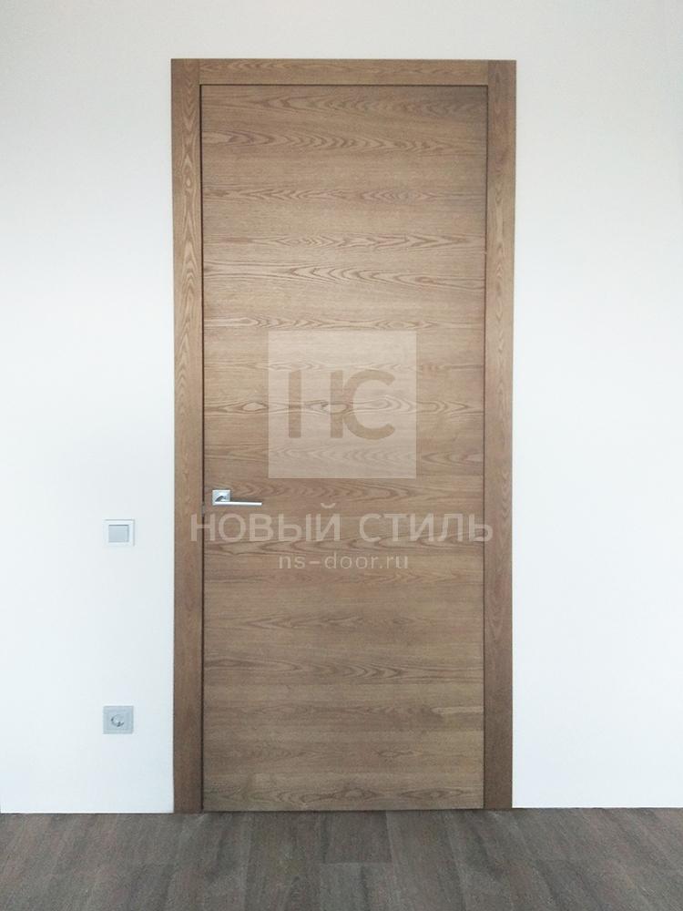 Двери в натуральном шпоне